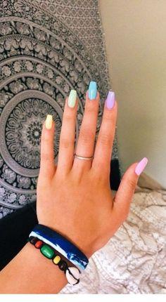 nails for kids cute & nails for kids ; nails for kids cute ; nails for kids easy ; nails for kids cute short ; nails for kids cute and easy ; nails for kids gel ; nails for kids acrylic ; nails for kids cute unicorn Simple Acrylic Nails, Summer Acrylic Nails, Best Acrylic Nails, Colorful Nails, Acrylic Nails Pastel, Pastel Color Nails, Acrylic Nail Designs Coffin, Coffin Nails Designs Summer, Solid Color Nails