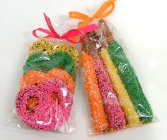 I like the bright colors of these coated beauties.  from sweetschocolates.com