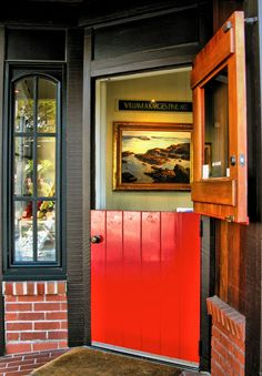 Dutch Door; perfect for answering the door with dogs and little kids!!!