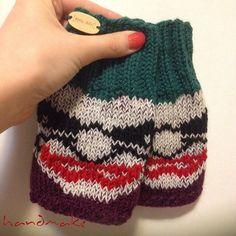 Knitted fingerless gloves Joker fingerless gloves by HandmakeOrgUa