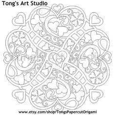 printable coloring page mandala style valentine pattern 001