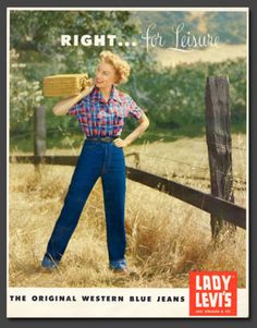 Eighty years ago in the fall of 1934 Levi Strauss & Co. introduced the worlds first jeans made exclusively for women Lady Levis jeans. - Denizen From Levi Jeans for women - Ideas of Denizen From Levi Jeans for women Levis Jeans, Jeans Fit, Jeans Skinny, Denim Vintage, Jean Vintage, Outfit Jeans, Denim Outfits, History Of Jeans, Dockers