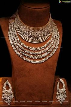 Dazzling Diamond Necklace & Earrings