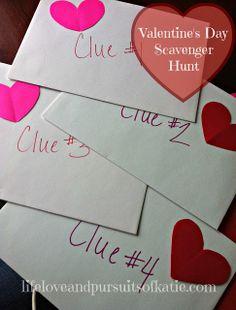 Valentine's Day Scavenger Hunt Clues (Printable | Scavenger hunts ...