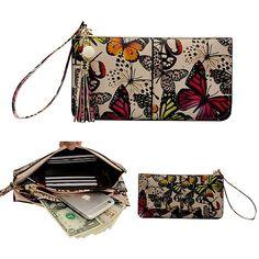 Belfen Soft Leather Phone Wristlet Wallet Clutch Tassels Wristlet   eNew Style