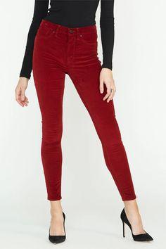 Barbara High Waist Skinny - Oxblood – A Style Studio Skinny Ankle Jeans, Skinny Pants, Denim Shop, Oxblood, Super Skinny, Fashion Pants, Casual Chic, Wardrobe Staples, Snug