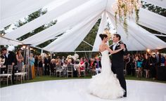 A White Open-Air Tented Wedding at Shady Canyon Golf Club by Samuel Lippke Studios