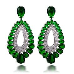 Find More Drop Earrings Information about Six Colors Combinations Women's Deluxe Statement Drop Earrings Emerald Montana Crystal Clear Champagne Siam Gold Platinum Plated,High Quality earrings single,China earring bridal Suppliers, Cheap earring setting from Boutique DC1989 (One Stop Purchase) on Aliexpress.com