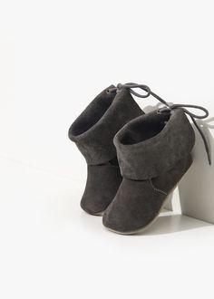 Grey Handmade Baby Boots