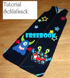 Schlafsack, Kreativ-FREEbook - farbenmix Online-Shop - Schnittmuster, Anleitungen zum Nähen