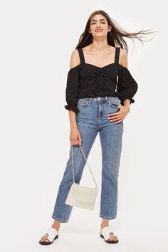 3a9206743abc PETITE Mid Blue Straight Leg Jeans - Jeans- Topshop Thailand Moto Jeans,  Trouser Jeans
