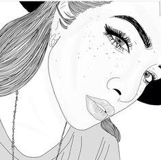 grafika outline, girl, and grunge