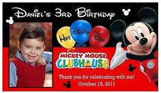 12 MICKEY MOUSE CLUBHOUSE BIRTHDAY PARTY PHOTO MAGNETS PARTY FAVORS  | eBay