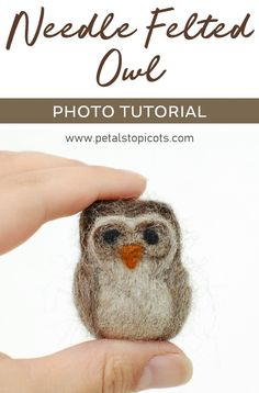 Learn how to make this sweet needle felted woolly owl . step by step photo tutorial. Learn how to make this sweet needle felted woolly owl . step by step photo tutorial. Needle Felted Owl, Needle Felted Ornaments, Felted Wool Crafts, Felt Crafts, Felt Ornaments, Diy Crafts, Felt Owls, Felt Birds, Owl Photos