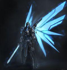 Emperor Battle Armor Design, Joshua Carrenca on ArtStation at… Espada Anime, Character Concept, Character Art, Mode Cyberpunk, Arte Robot, Futuristic Armour, Sci Fi Armor, Skyrim Armor, Armor Concept