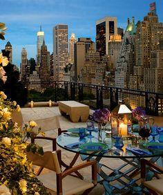 My rooftop didn't look like this when I lived in NYC, but maybe I would have stuck around if it did!