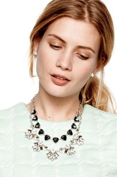 Chunky Crystal Stone Statement Necklace | Lila Necklace layered necklaces