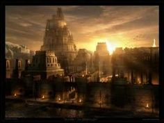 Raphael Lacoste Sunset On Babylon Cities Wallpaper At Fantasy Wallpapers Fantasy City, Fantasy Places, Sci Fi Fantasy, Fantasy World, Dark Fantasy, City Landscape, Fantasy Landscape, Ancient Egypt, Ancient History