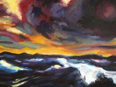 franciane - Ciel d'orage, d'après. Emil Nolde
