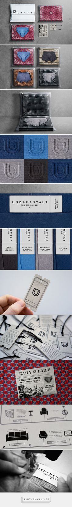 Undamentals underwear packaging designed by Afterhours (Switzerland)… Packaging Design Inspiration, Logo Inspiration, Underwear Packaging, Underwear Brands, Cute Packaging, Textiles, Marketing, My Design, Branding