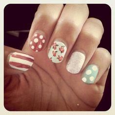 sweet nail art patterns ( #beauty #nailpolishes #pastel #nails )