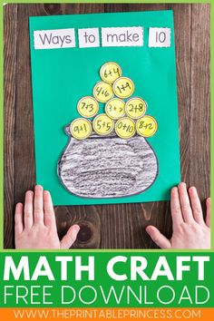 This activity has it all: crafts, math, and a fun review! Read along as I share with you this adorable no prep St Patrick's Day craft for Making 10.