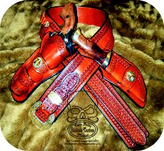 A nice rig with a Mexican loop sheath.  http://www.slickbald.com #leather #holster #SASS #colt #ruger #slickbald