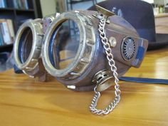 How To Make Steampunk Lab Goggles -- These are SO COOL but I'm pretty sure they're not lab safe...especially that dangly chain.