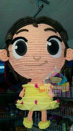 Piñata Princesa Bella de niña... no busquen más en Viva Piñata Factory creamos la piñata que no puedes encontrar o que no existe.