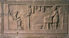Butcher's shop, relief, Roman, 2nd century (stone), / Museo della Civilta Romana, Rome, Italy / Roger-Viollet, Paris / The Bridgeman Art Library