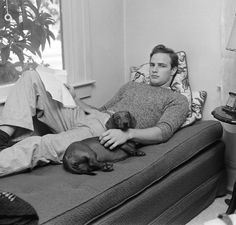 Marlon Brando at his aunt's house in California during filming of <i>The Men</i>, 1949.