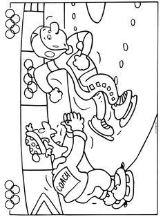 Schaatsen - Olympische spelen - Knutselpagina.nl - knutselen, knutselen en nog eens knutselen.