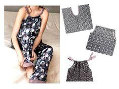 Bettinael.Passion.Couture.Made in france: PATRON GRATUIT : Idées de couture facile pour l'été