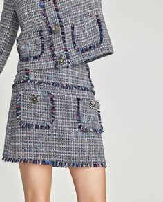 Swans Style is the top online fashion store for women. Shop sexy club dresses, jeans, shoes, bodysuits, skirts and more. Tweed Skirt, Tweed Dress, Wool Dress, Skirt Fashion, Hijab Fashion, Fashion Dresses, Haute Couture Style, A Line Skirt Outfits, Dress Outfits