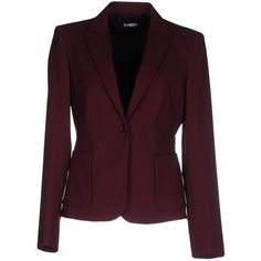 Miu Miu Blazer ($575) ❤ liked on Polyvore featuring outerwear, jackets, blazers, garnet, long sleeve blazer, multi pocket jacket, miu miu, single button blazer and one button blazer