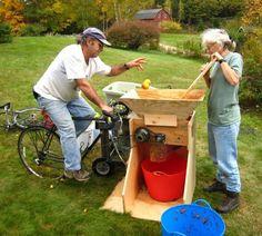 bike-powered apple grinder
