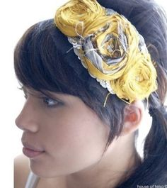 how to make fabric flower hair 2