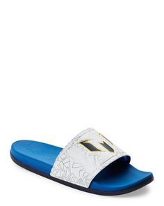 17ca3396e931ed Blue   White Adilette Messi Slides Flip Flop Shop
