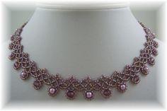 Crystal Chevron Necklace Kit Purple