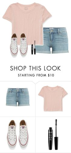 """""""Help me get more followers by giving me shout outs pls!!! """" by hannahharris123 ❤ liked on Polyvore featuring Paige Denim, Aéropostale, Converse and NYX"""