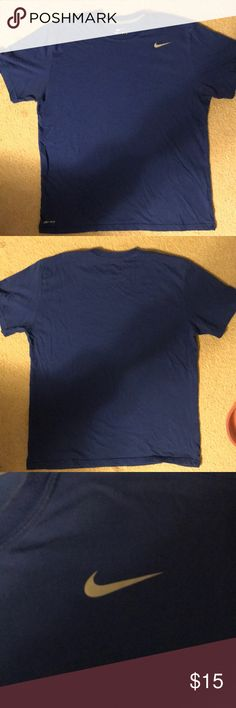 d8527e58 Nike Dri-Fit Blue Shirt EUC Nike Dri-FIT shirt blue. Large Nike Shirts Tees  - Short Sleeve