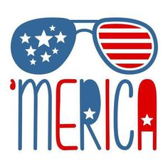 Retro red, white and blue 'Merica Fourth of July Independence Day Aviators