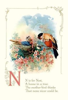 N is for nest 24x36 giclee