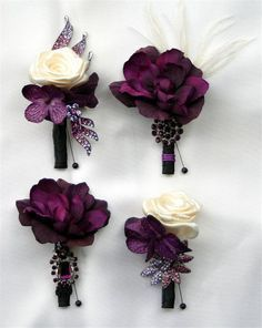 Purple Wedding Flowers Items similar to Purple boutonniere. Made to order on Etsy - Purple Boutonniere, Boutonnieres, Fall Wedding Boutonniere, Brooch Boutonniere, Wedding Corsages, Groomsmen Boutonniere, Brooch Bouquets, Perfect Wedding, Dream Wedding