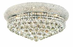 Ceiling Lights & Fans Generous Modern Europe 7 Lights Dome Basket Crystal Chandeliers In Chrome Finish Bedroom Lamp Hall Upscale Atmosphere To Win A High Admiration
