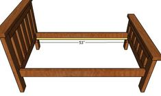 This step by step diy article is about toddler bed plans. I continue my series of bed frame projects with this super simple design about building a toddler bed. If you like the rustic design, this will be a super easy bed frame to make and very durable. Toddler Twin Bed, Farmhouse Style Bedding, Bed Next, Wood Putty, Simple Bed, Bed Rails, Wood Beds, Bed Plans, Headboards For Beds
