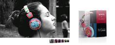 Auriculares estéreo by CUSTO BARCELONA. Auricular de diadema con almohadillas de alta calidad en piel, ajustables en altura y en seis colores diferentes. CUSTO BY VIETA http://bit.ly/1h6Accu