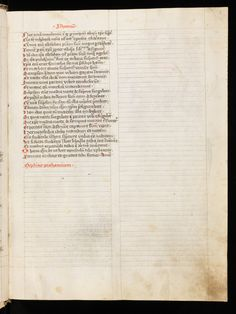 Colored ruling with plummet or lead. Marginal pricking, only visible at the top of the page because the page was not cut straight.  Sarnen, Benediktinerkollegium, Cod. membr. 8, f. 3r – Speculum Humanae Salvationis Use of the image under CC (https://creativecommons.org/licenses/by-nc/4.0/)