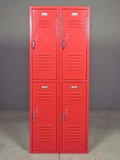 Penco Red Lockers | Redinfred.com Side By Side Style, Storage + Design  Sophistication