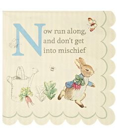 Peter rabbit party peter rabbit bunting Peter rabbit baby  sc 1 st  Pinterest & Peter Rabbit Large Scallop Edge Napkins | Easter Ideas | Pinterest ...